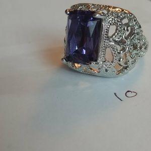 Purple gem ring